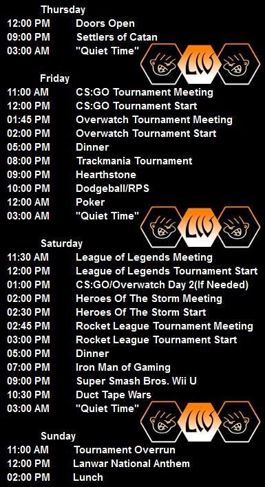 MML 15 Schedule